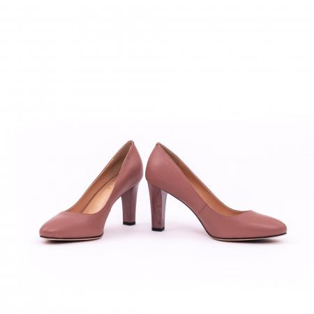 Pantofi dama eleganti, piele naturala, Epica 0305-C200A, roz prafuit inchis3