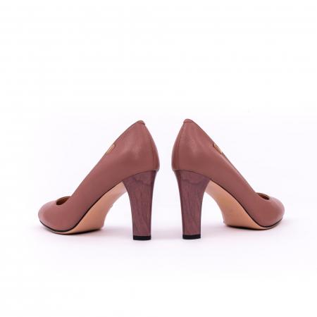 Pantofi dama eleganti, piele naturala, Epica 0305-C200A, roz prafuit inchis5
