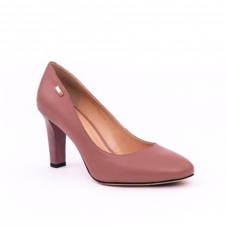 Pantofi dama eleganti, piele naturala, Epica 0305-C200A, roz prafuit inchis0