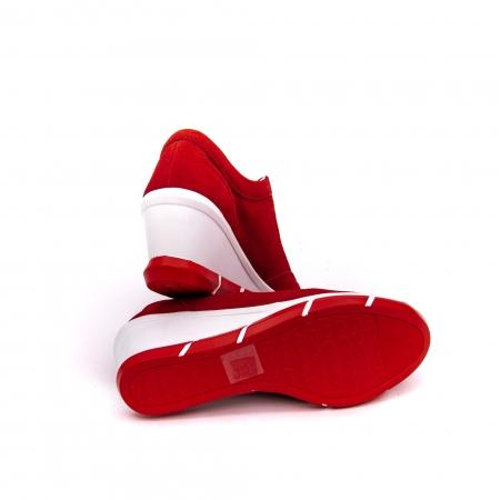 Pantof sport dama cod VK-F001-441 red suede4