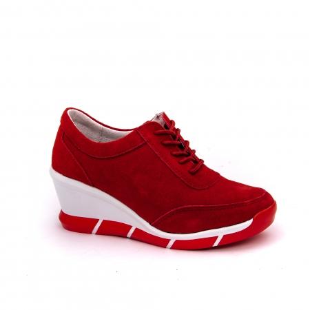 Pantof sport dama cod VK-F001-441 red suede0