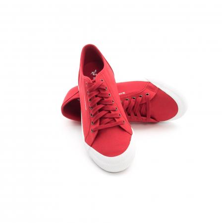 Pantofi sport unisex Le Coq Sportif 1820070 deauville sport, rosu3