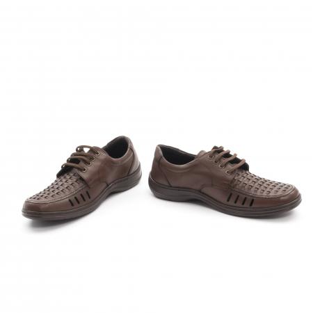 Pantofi barbati vara, piele naturala, Otter 149 C4-N, maro4