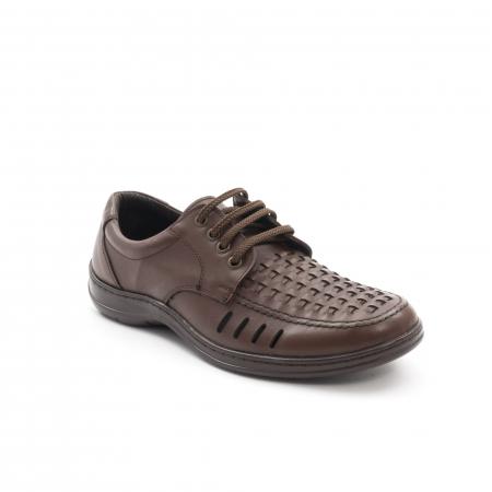 Pantofi barbati vara, piele naturala, Otter 149 C4-N, maro0