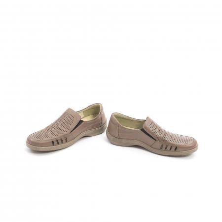Pantofi barbati casual,  piele naturala, Otter 150 03-N, taupe4