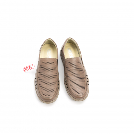 Pantofi barbati casual,  piele naturala, Otter 150 03-N, taupe5