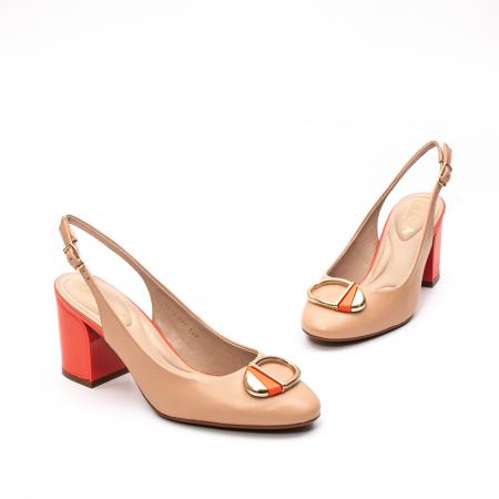Pantofi dama vara eleganti, piele naturala, EP 1478-586-5671