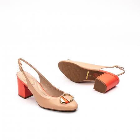 Pantofi dama vara eleganti, piele naturala, EP 1478-586-5672