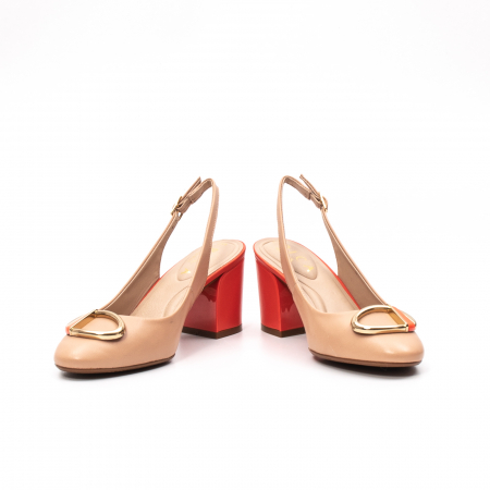Pantofi dama vara eleganti, piele naturala, EP 1478-586-5673