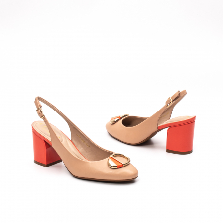 Pantofi dama vara eleganti, piele naturala, EP 1478-586-5674