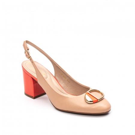 Pantofi dama vara eleganti, piele naturala, EP 1478-586-5670