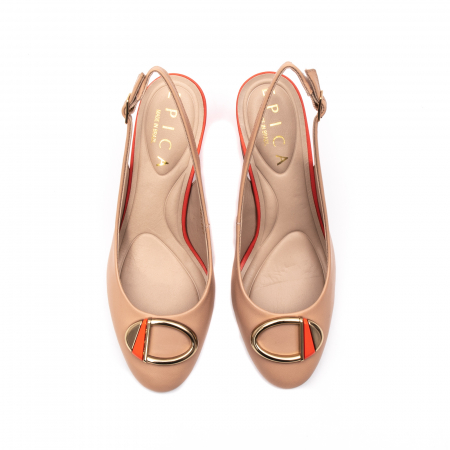 Pantofi dama vara eleganti, piele naturala, EP 1478-586-5675