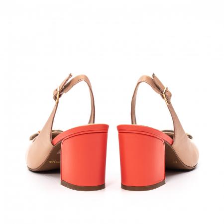 Pantofi dama vara eleganti, piele naturala, EP 1478-586-5676