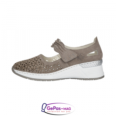Pantofi vara dama, piele naturala de antilopa, N4367-42 [6]