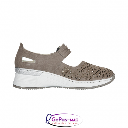 Pantofi vara dama, piele naturala de antilopa, N4367-42 [3]