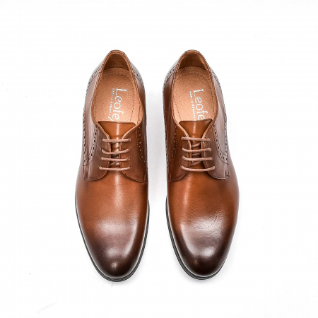Pantofi barbati eleganti, piele naturala LFX 512, coniac5