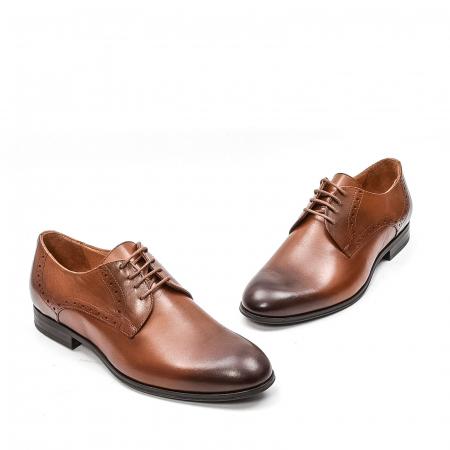 Pantofi barbati eleganti, piele naturala LFX 512, coniac1