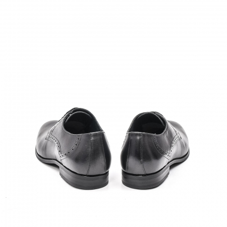 Pantofi eleganti barbat, piele naturala LFX 512, negru6