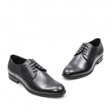 Pantofi eleganti barbat, piele naturala LFX 512, negru2