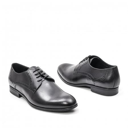 Pantofi eleganti barbat, piele naturala LFX 512, negru1