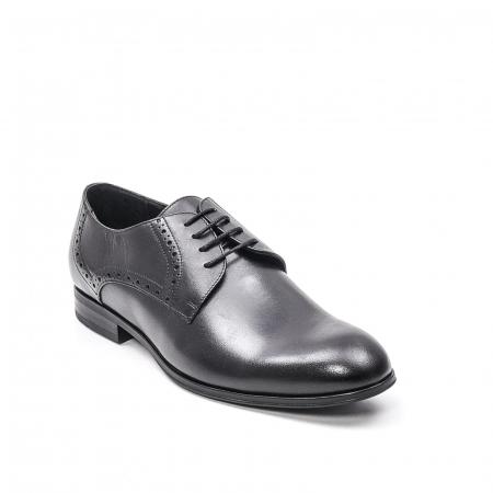 Pantofi eleganti barbat, piele naturala LFX 512, negru0