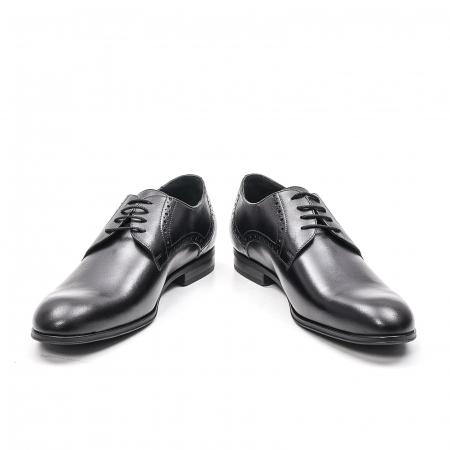 Pantofi eleganti barbat, piele naturala LFX 512, negru4