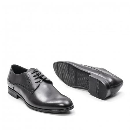 Pantofi eleganti barbat, piele naturala LFX 512, negru3