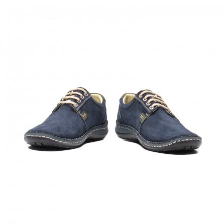 Pantofi barbat casual, piele naturala, OT 9551 bleumarin [4]