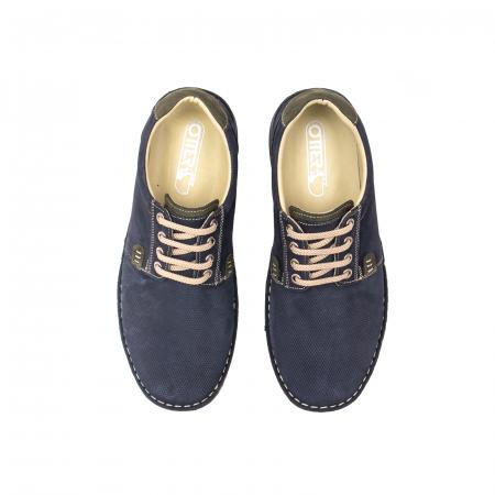 Pantofi barbat casual, piele naturala, OT 9551 bleumarin [5]
