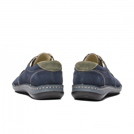 Pantofi barbat casual, piele naturala, OT 9551 bleumarin [6]