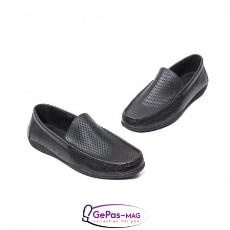 Pantofi barbat de vara tip mocasin, piele naturala, L1513301