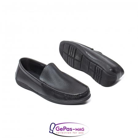 Pantofi barbat de vara tip mocasin, piele naturala, L1513303