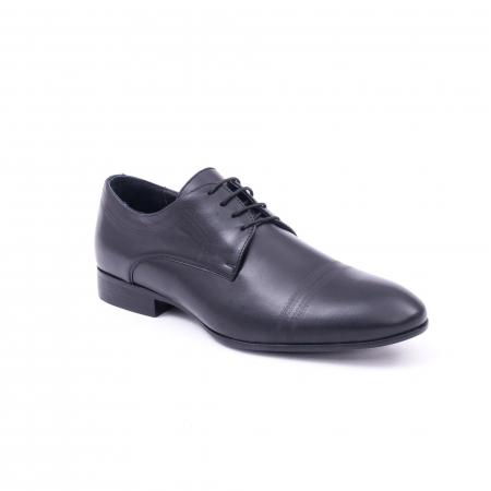 Pantofi barbati eleganti, piele naturala, LFX 896 negru [0]