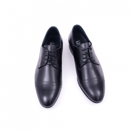 Pantofi barbati eleganti, piele naturala, LFX 896 negru [5]
