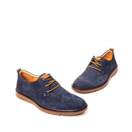 Pantofi barbat piele naturala nubuc, OT 59301