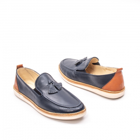 Pantofi barbati casual din piele naturala, 191544STAR, bleumarin2