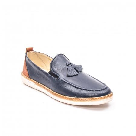 Pantofi barbati casual din piele naturala, 191544STAR, bleumarin0