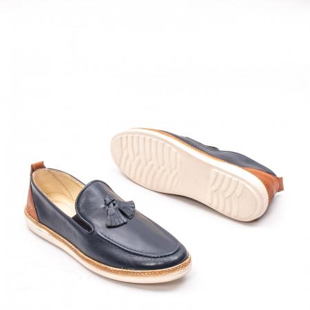 Pantofi barbati casual din piele naturala, 191544STAR, bleumarin3