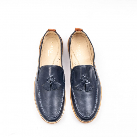 Pantofi barbati casual din piele naturala, 191544STAR, bleumarin5