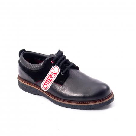 Pantofi barbati casual piele naturala, Otter 020, negru0
