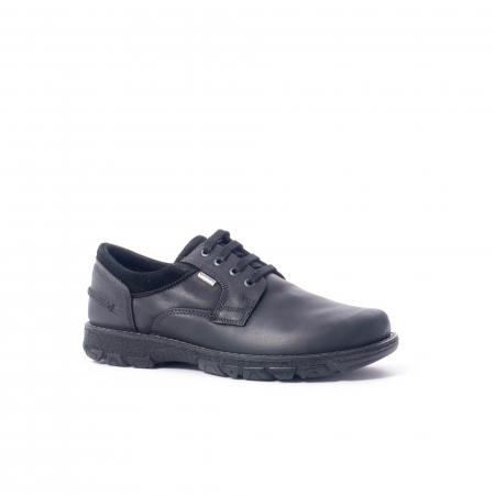 Pantofi barbati casual piele naturala Imac ic402428, negru