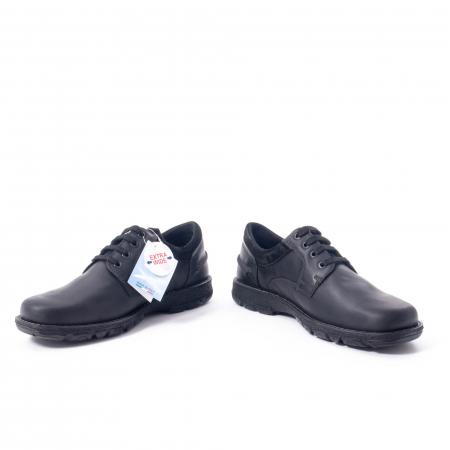 Pantofi barbati casual piele naturala Imac ic402428, negru4