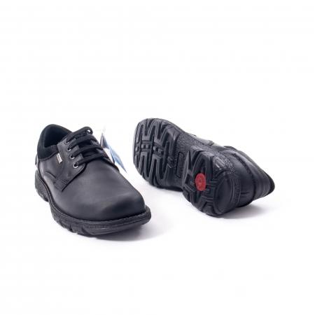 Pantofi barbati casual piele naturala Imac ic402428, negru3