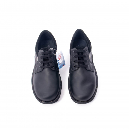 Pantofi barbati casual piele naturala Imac ic402428, negru5