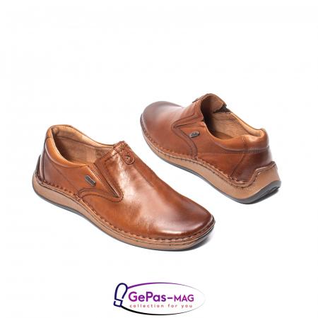 Pantofi casual barbati, piele naturala, LFX 919, coniac [2]