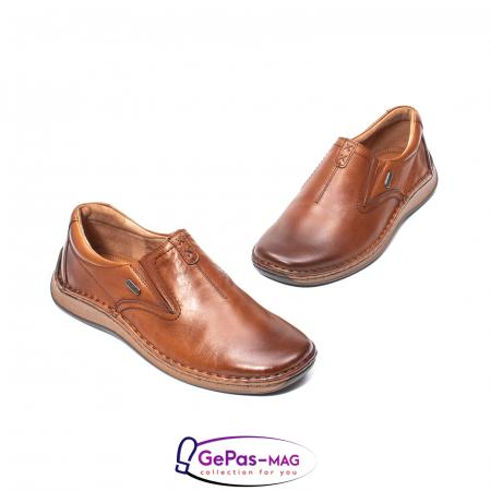 Pantofi casual barbati, piele naturala, LFX 919, coniac [1]