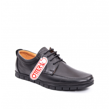 Pantofi barbati casual piele naturala Otter 20915 01-N, negru