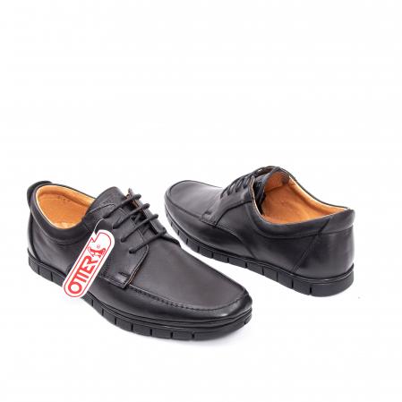 Pantofi barbati casual piele naturala Otter 20915 01-N, negru2