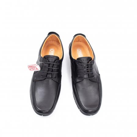 Pantofi barbati casual piele naturala Otter 20915 01-N, negru5