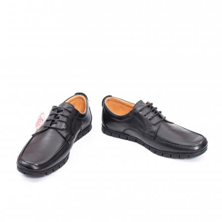 Pantofi barbati casual piele naturala Otter 20915 01-N, negru4
